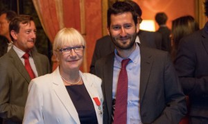 Photo - Annie - Julien - CG - Legion Honneur Annie Michel - Sept 2015